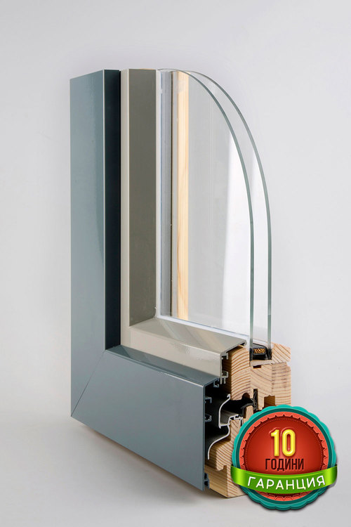 Wooden windows SOFTLINE 68/78 with aluminium cap CORA